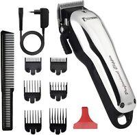 BESTBOMG Y5 Máquina de cortar pelo profesional, cortadora de cabello con 6 peine