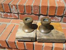 2-Antique Bronze Sailboat Winches