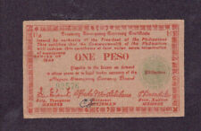 1 PESO VERY FINE+ GUERILLA BANKNOTE FROM JAPANESE OCCUPIED PHILIPPINES 1944