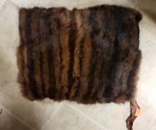 Vintage Fur Mink Muff Hand Warmer Lined with Zippered Pocket