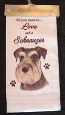 Schnauzer Uncropped Dog Breed Cotton Kitchen Dish Towel
