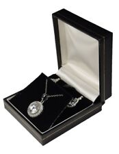 SMALL EARRING GIFT BOX CHAIN PENDENT NECKLACE ORGANIZER CASE DISPLAY Q75