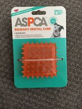 New listing Aspca Squeaky Dental Cube Dog Toy Orange Teeth Cleaning Rubber Spikes Orange New