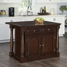 Hardwood Kitchen Island Cabinet Storage Granite top Table Organizer Drawer Shelf