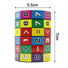 Child Kids Baby Gift Cylindrical Colorful Educational Learning Math Helper Toy