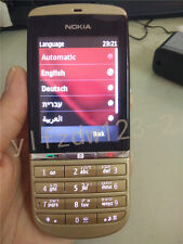 Gold Unlocked Original Nokia Asha 300 Hebrew Keyboard Etc. Touch & Type Phone