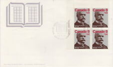 CANADA #661 8¢ ALPHONSE DESJARDINS UL PLATE BLOCK FIRST DAY COVER