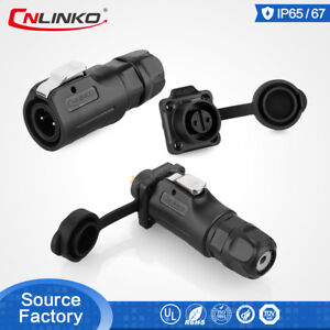 2 3 4 5 6 7 8 Pin Power Connector Male Plug Female Socket Waterproof Outdoor M12