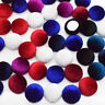 15mm Velvet Fabric Covered Round Button Flatback Cabochon Decoration Buttons