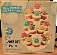 Wilton 3-Tier Stacked Round Cupcake and Dessert Tower Stand, Display Holiday