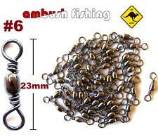 50 BARREL FISHING SWIVELS SIZE #6 / TEST - 27kg black nickel FISHING TACKLE BULK