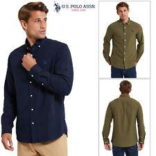 U.S. Polo Assn Mens Core Oxford Shirt Button Down Collar Smart Long Sleeve Top