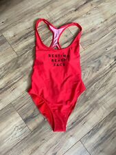Milly NEW Red Cherry Woman Size Small S One-Piece  Swimwear $185