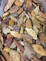 "TEN 10 Authentic Ancient Indian Arrowheads ""Field Grade B"" Random Select GrabBag"