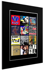 MOUNTED / FRAMED PRINT NO DOUBT DISCOGRAPHY - 3 SIZES POSTER GIFT ARTWORK