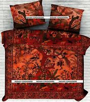 Tree Of Life Queen Duvet Doona Coverlet With Pillow Cover Indian Cotton Nature