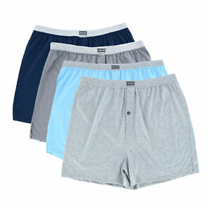 New Fruit of the Loom Men's Big and Tall Knit Boxers (4 Pack)
