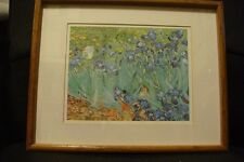 "'Irises In the Garden' by Vincent van Gogh Framed Graphic Art 14.5"" BY 12"""