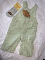 Gymboree Baby Infant 3-6 Months Corduroy Overalls Hedgehog Matching Socks NWT