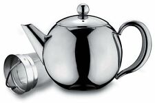 Grunwerg Rondeo 1.0L 35oz Stainless Steel Tea Pot With Infuser