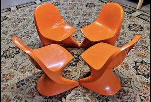 Vintage Casalino Plastic Modern Youth  Z-chair Alexander Begge Orange Plastic 4
