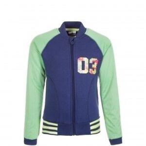 adidas Girls Rock It Track Top Ages 2-10 Blue RRP £30 BNWT AB3597