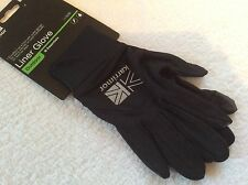 LADIES QUALITY BLACK S/M KARRIMOR SKI GLOVES GLOVE LINERS CYCLE HIKE LIGHTWEIGHT