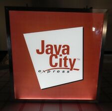 Cool Coffee Light Up Sign- Java City Express - For your Home Coffee Station!