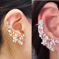 Ohrstecker Schmetterling ear cuff Ohrring Gothic Ohrklemme Blume Strass Ohrbügel