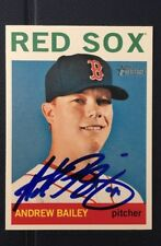ANDREW BAILEY 2013 TOPPS HERITAGE AUTOGRAPHED SIGNED AUTO BASEBALL CARD 344 RED