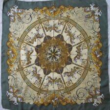 Authentique et très rare foulard Hermès Luna Park J. Metz soie vintage scarf_
