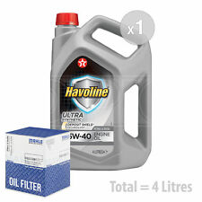Engine Oil and Filter Service Kit 4 LITRES Texaco Havoline Ultra 5w-40 4L