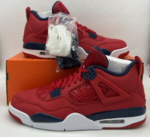 Nike Air Jordan 4 Retro SE 'FIBA' Gym Red/Obsidian White CI1184-617 Mens Size