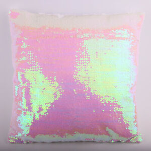 "10Pcs 16"" Sublimation Blank Reversible Sequin Magic Mermaid Pillowcase Cover"