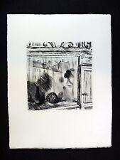 Pointe sèche ANDRÉ JACQUEMIN Reflets dans une vitrine parisienne PARIS La Rapée