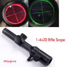 Mizugiwa New Tactical 1-4x20 Red Green Dual illuminated Optical Gun Rifle Scope