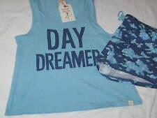 Women's XL MUNKI MUNKI Day Dreamer Clouds Shorts and Tank Top Pajama Lounge Set