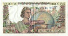 FRANCE 10 000 FRANCS GÉNIE FRANÇAIS 1-9-1955 SUP
