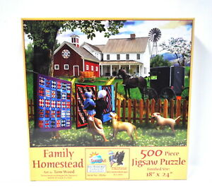 Family Homestead 500pc puzzle
