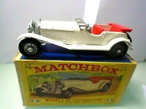 1969 MATCHBOX-'Models of Yesteryear' Y-10 -1928 MERCEDES w box