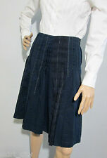 WITCHERY size 8 pleated ink / navy blue SKIRT - excellent condition