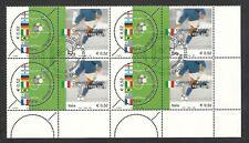 2002 ITALIA CAMPIONE DEL MONDO ANNULLO FDC QUARTINA - 2