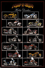 Motorcycle, Harley Davidson Poster Print, 24x36