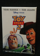 TOY STORY 2 BUZZ & WOODY DISNEY PIXAR NOVEMBER 1999 MOVIE RELEASE CAST BUTTON