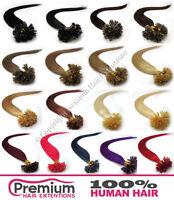 150s Keratin Pré Lié 100% Extensions De Cheveux Humains Remy Ongle Pointe U