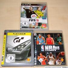 3 PLAYSTATION 3 SPIELE SET - FIFA 11 - GRAN TURISMO 5 PROLOGUE - NBA 08 - PS3