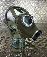 Genuine Vintage Canvas and Suede Gas Mask with New Filter