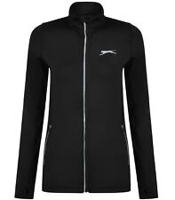 Ladies Women's New Slazenger Zip Fitness Running Track Jacket Sweatshirt Coat