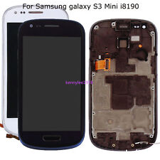 Para Samsung Galaxy S3 mini i8190 LCD Display Táctil Pantalla touch screen+frame