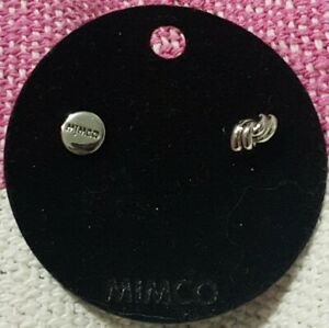 """MIMCO """"FORGET ME KNOT Earrings Studs"""" SILVER TONE 💗 New + MIMCO DUST BAG"""